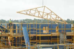Roof Truss Being Fitted