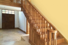 Oak Cut-String Stairs